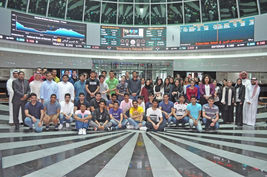 Bahrain-Bourse-Receives-BIBF-Students